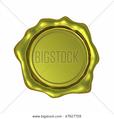 Realistic Gold Seal - Isolated