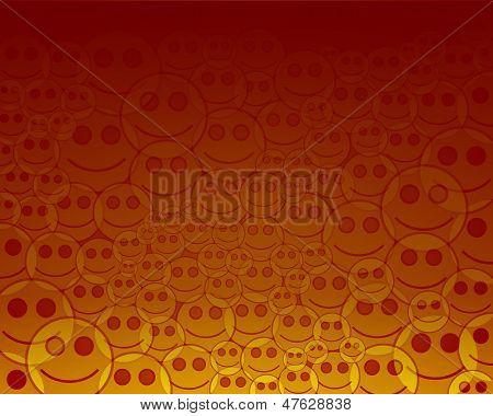 background orange smile