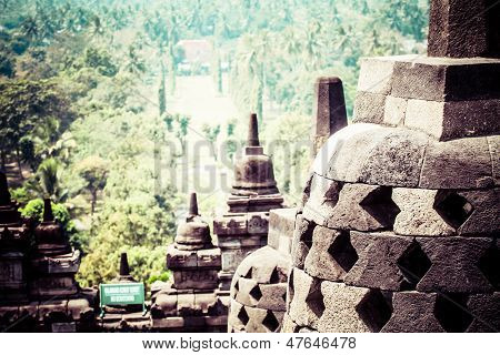 Borobudur Temple Near Yogyakarta On Java Island, Indonesia