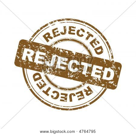 Stamp With Word Rejected