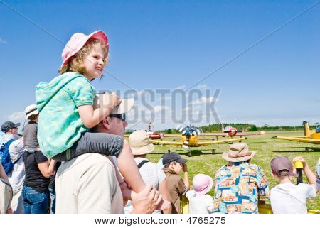 Audience At The Air Show In Auckland, New Zealand