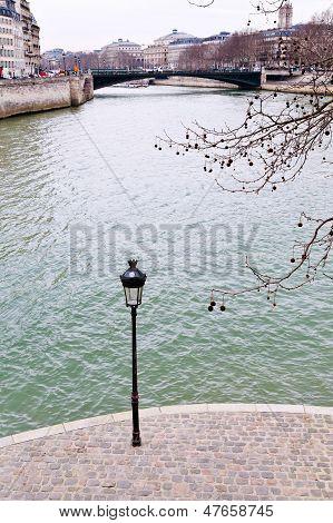 View Of Seine River In Paris