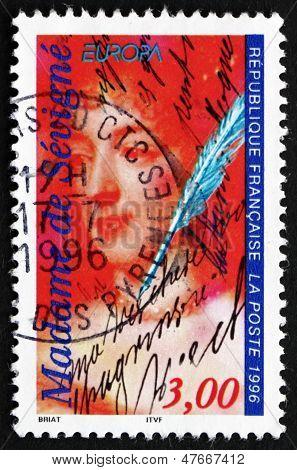 Postage Stamp France 1996 Marie De Rabutin-chantal, Marquise