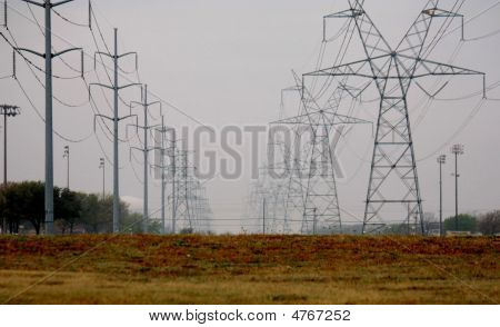 Fog And Power Lines_3D
