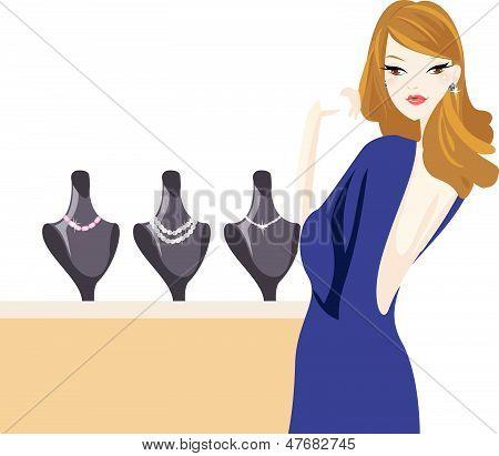 fashon woman and jewellery