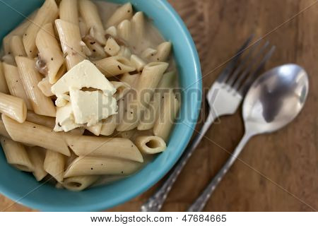 Pasta Carbonara With Chunk Of Cream Cheese
