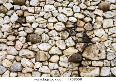 Quartz And Granite Stones Texture Of The Wall At Newgrange