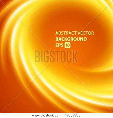Abstract smooth twist light lines vector background. Eps 10.
