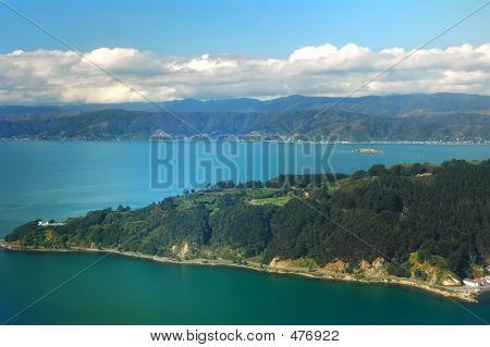Vista aérea da paisagem