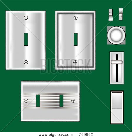 Light Switches And Faceplates - Stainless Steel