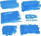 Vector spot of paint drawn by felt pen poster
