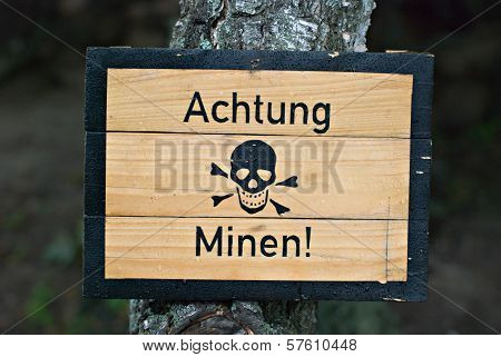 Mines Warning
