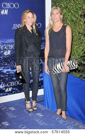 Sheryl Crow and Gabrielle Reece at the Jimmy Choo For H&M Collection, Private Location, Los Angeles, CA. 11-02-09