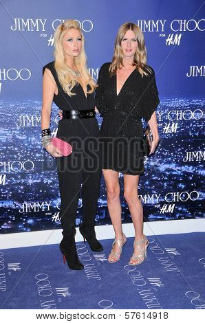 Paris Hilton and Nicky Hilton at the Jimmy Choo For H&M Collection, Private Location, Los Angeles, CA. 11-02-09