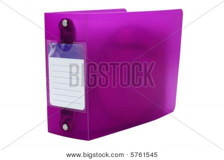 Pink Filer For Dvd Or Cd Discs With Empty Space Isolated On White Background.