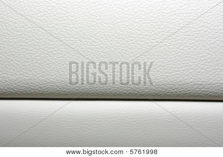 White Leather Background. Modern Japanese Car Interior Materials.