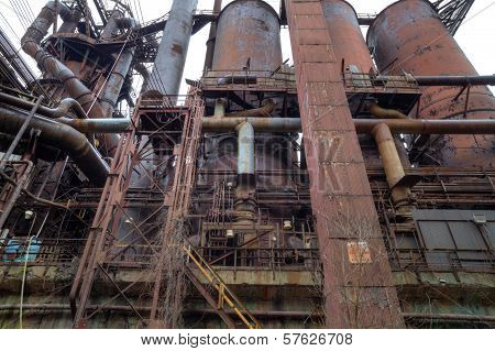 Abandoned Steel Mill Outside