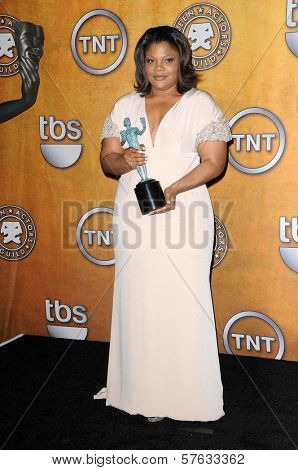 Mo'Nique at the 16th Annual Screen Actors Guild Awards Press Room, Shrine Auditorium, Los Angeles, CA. 01-23-10