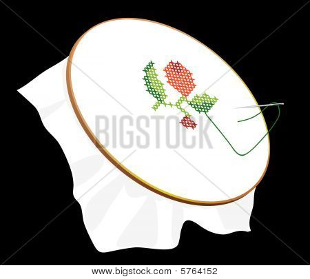 Favorite embroidery on the tambour