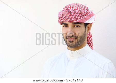 Portrait Of An Arab Saudi Man Outdoor