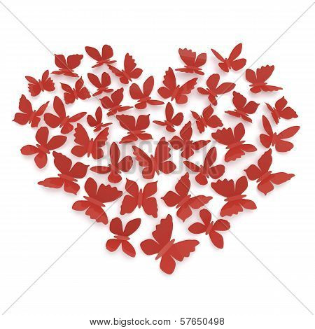 Heart Shape Of Butterflies