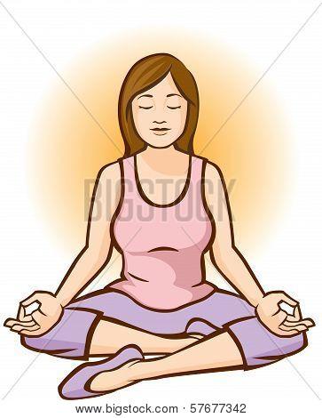 Woman Mediting (Aura)