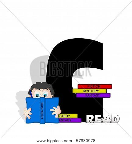 Alphabet Absorbed In Reading C