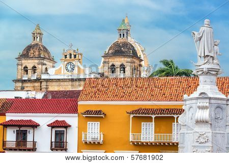 Colonial Buildings And Church