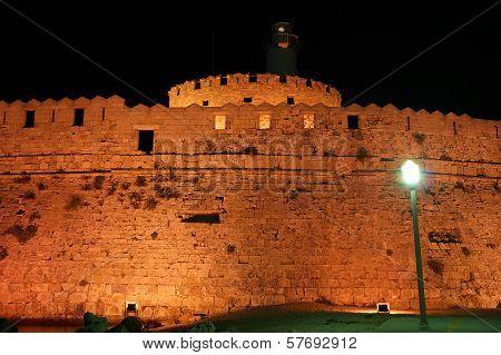 Rhodes Tower Of St. Nicholas, Greece