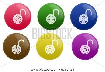 Glossy Unlock Button