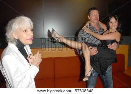 Carol Channing with Roland Kickinger and Romi Dames at the Los Angeles Premiere of 'Gotta Dance'. Linwood Dunn Theatre, Hollywood, CA. 08-13-09