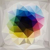 beautiful abstract geometric background with triangular polygons. poster