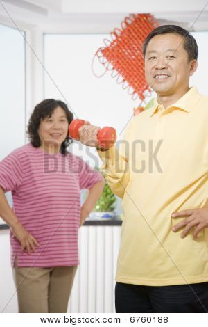 Middle-aged Couple At Home