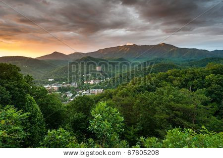 Gatlinburg Tennessee Resort City Great Smoky Mountains