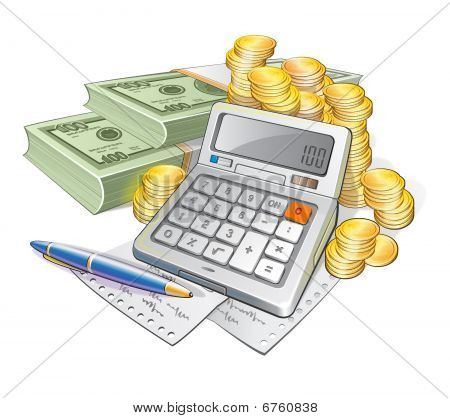 Calculator, Currency and Coins