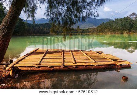 Telaga Wama lake,Dieng Plateau, Jawa, Indonesia