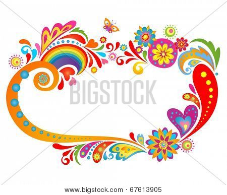 Summery floral frame
