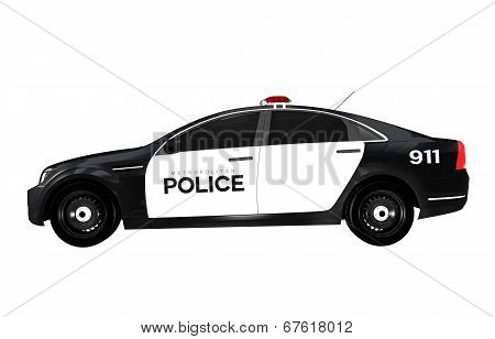 Police Car Side View