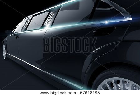 Black Shiny Limousine