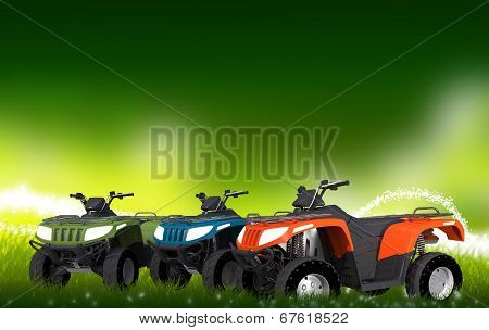 Atv Quads On The Meadow