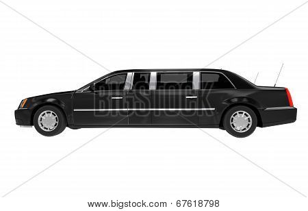 Limousine Side View Isolated