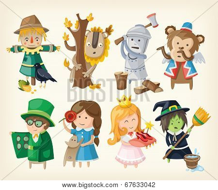 Set Of Toy Personages From Fairy Tales