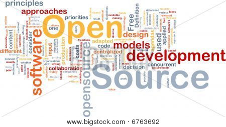 Open Source Background Concept