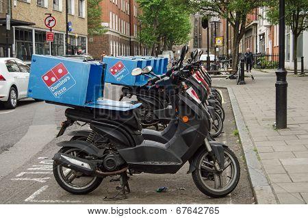 Domino's Pizza Mopeds, London