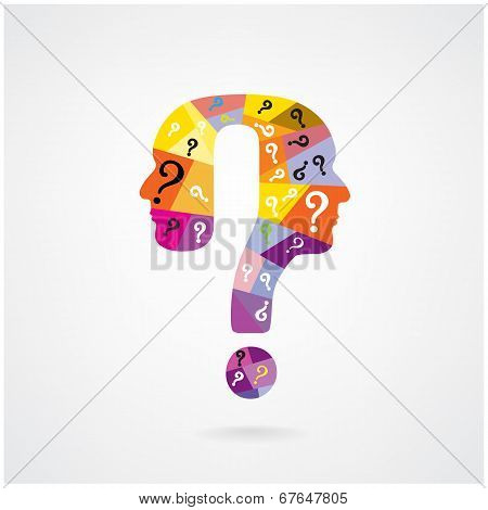 Colorful Question Mark Symbol