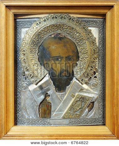 Old Icon Of Saint Nicolas