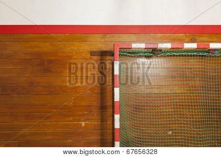 Vintage style goalpost in old gym