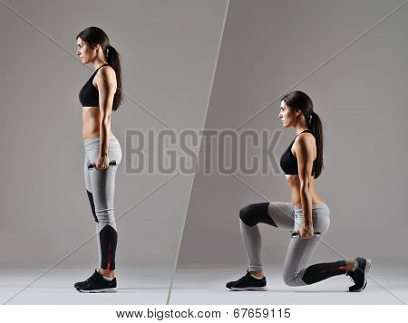 beautiful fitness woman working out