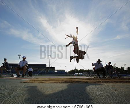 Long Jump Sky Woman