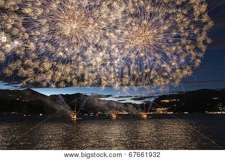 Fireworks On The Maggiore Lake, Luino